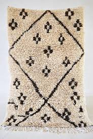 black and off white moroccan rug from the pink rug co sfgirlbybay