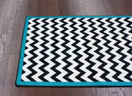 surprising design ideas black chevron rug with turquoise border rugs teal and room white perk up any this beautiful neon area