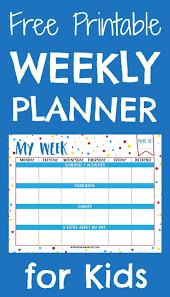 Printable Week Planner Printable Weekly Planner For Homework Download Them Or Print