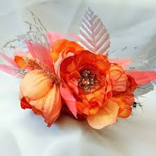 <b>Coral</b> and silver floral <b>headband</b>.... - parchment and <b>pearls</b> | Facebook