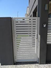 image result for modern metal garden gates order horizontal slats