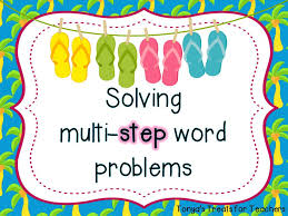 student led lesson teaching multi step word problems