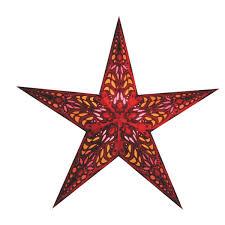 Van Verre Star Mercury Red Rode Lamp Vorm Kerstster Papier Met Zeefdruk