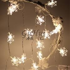 Christmas Decoration 20 Leds Romantic White Snowflake String Lights Winter Window Garland Night Outdoor Wedding Party Ornament