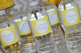 Decorating Water Bottles For Baby Shower Baby Shower Water Bottle Labels Drink Labels Gray and Yellow 20