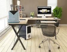 wooden corner desk. L-Shaped Wooden Computer Corner Desk Home Office With Book Shelf Mother Gift
