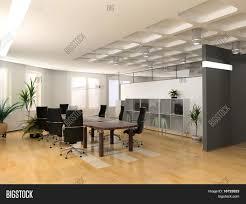 modern office interior design. The Modern Office Interior Design (3d Render) O