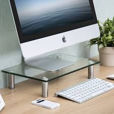 Amazon.com : FITUEYES Clear Computer Monitor Riser Save Space Desktop Stand  for Xbox One/component/flat Screen TV, DT103801GC : Office Products