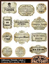 Halloween Food Label Templates Festival Collections