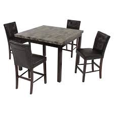achillea brown 5 piece high dining set main image 1 of 9 images