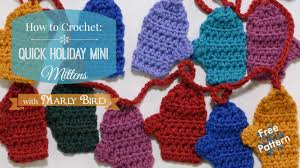 Youtube Free Crochet Patterns Custom Quick Mini Mitten Garland Free Crochet Pattern YouTube
