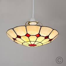 tiffany style pendant light. Tiffany Red Cortez Jewel Pendant Ceiling Light Shade Style