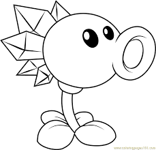 Small Picture Snow Pea Coloring Page Free Plants vs Zombies Coloring Pages
