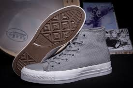 converse alligator light grey leather limited edition high tops shoes mens