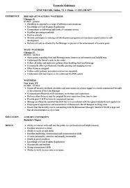 Example Of A Waitress Resume Waitress Resume Samples Velvet Jobs How To Write A With Only 17