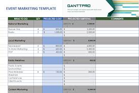 Event Marketing Template Free Download Excel Template
