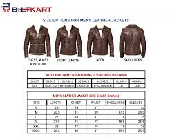 leather jacket size chart buy motorcycle leather jackets online in india at beltkart