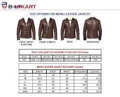Leather Jacket Size Chart Slim Fit Ivory Leather Jacket