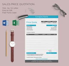 Professional Price Quote Template Celoyogawithjoco Inspiration Price Quote Template