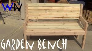 Bench Simple Garden Bench Plans Building A Garden Bench Steves Plans For Building A Bench