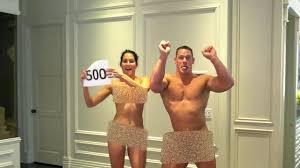 John Cena and new fianc e Nikki Bella strip NAKED to reward loyal.