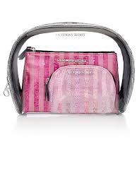 sequin stripe cosmetic bag trio victoria s secret