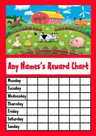Amazon Com Farm Animals Star Sticker Reward Chart Office