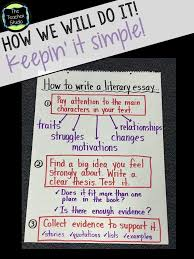 getting ready for literary essays anchor charts language arts  getting ready for literary essays