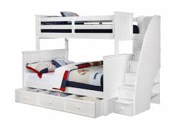 white bunk bed with stairs. Perfect Bed Gorgeous Twin Over Full Bunk Bed Stairs With Beds Rooms4kids For Design 18 Inside White