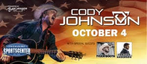 Owensboro Sportscenter Concert Seating Chart Cody Johnson In Concert With Special Guests Visit