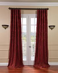 Maroon Curtains For Living Room Red Dining Room Curtains Popular Elegant Curtains For Living
