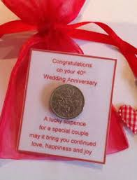 image is loading ruby wedding anniversary lucky sixpence gift 40th