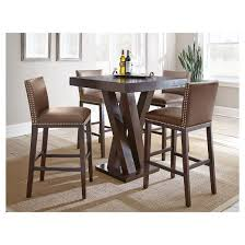 dining room chairs bar height. 5 piece whitney bar height dining table set wood/chocolate - steve silver company room chairs t
