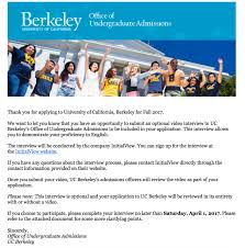UC Berkeley Internationals and InitialView | CA College Transfer
