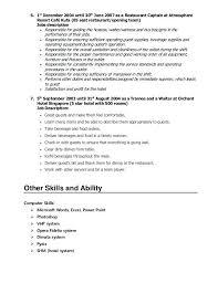 Head Waitress Job Description Lovely Head Waiter Responsibilities ...