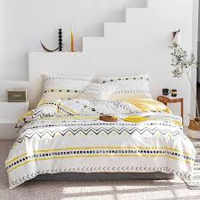 bed linen cotton yellow color striped