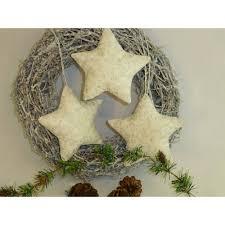 Sterne Christbaumschmuck Weiß Silber
