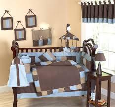 soho blue and brown modern cowboy 9 piece crib set