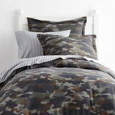 company kids by the company camouflage jersey knit twin duvet cover