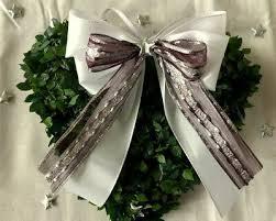 10 Weihnachtsschleifen Weiss Silber Bordeaux