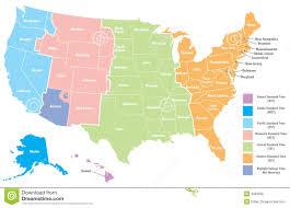 us time zones map arizona united states timezone map