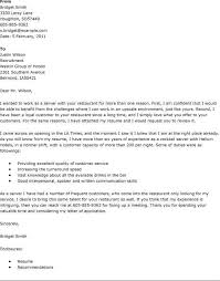 Sample Cover Letter Hospitality Sarahepps Com
