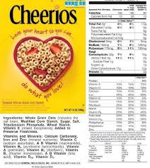 breakfast cereal breakdown healthiest regards inside cereal box nutrition label cheerios