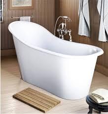 freestanding tub end drain. emperor slipper style soaking tub freestanding end drain