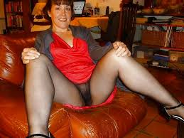 Mature stocking granny toilet