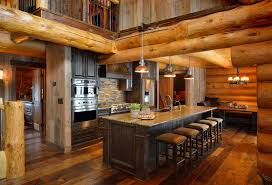 log cabin kitchen islands rustic cabin kitchens home design ideas and