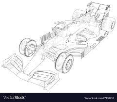 Race Car Frame Design Race Car Wire Frame Eps10 Format Created