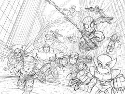 Small Picture Coloring Pages Superhero Squad Show Gekimoe 52657
