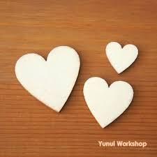 wood heart cutouts image 0 small unfinished laser cut romantic whole wood heart