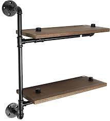 images gallery generic industrial metal 2 tier storage pipe wall shelf shelving cupboard display unit black